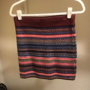 Multi-Colored Mossimo Knitted Skirt